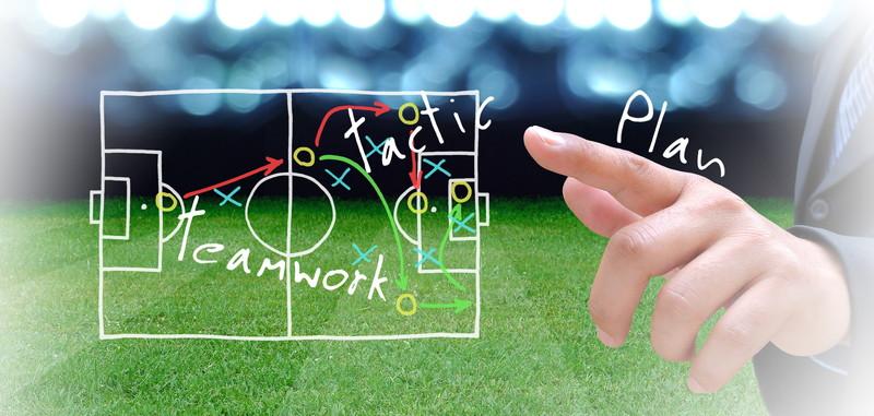 サッカーの戦術